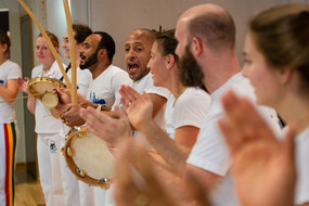 A group of capoeira perfomers at the International Meeting Center IBZ