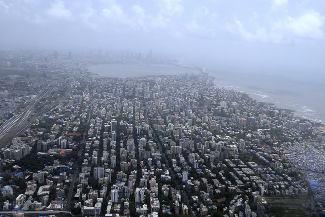 Aerial view of Mumbai
