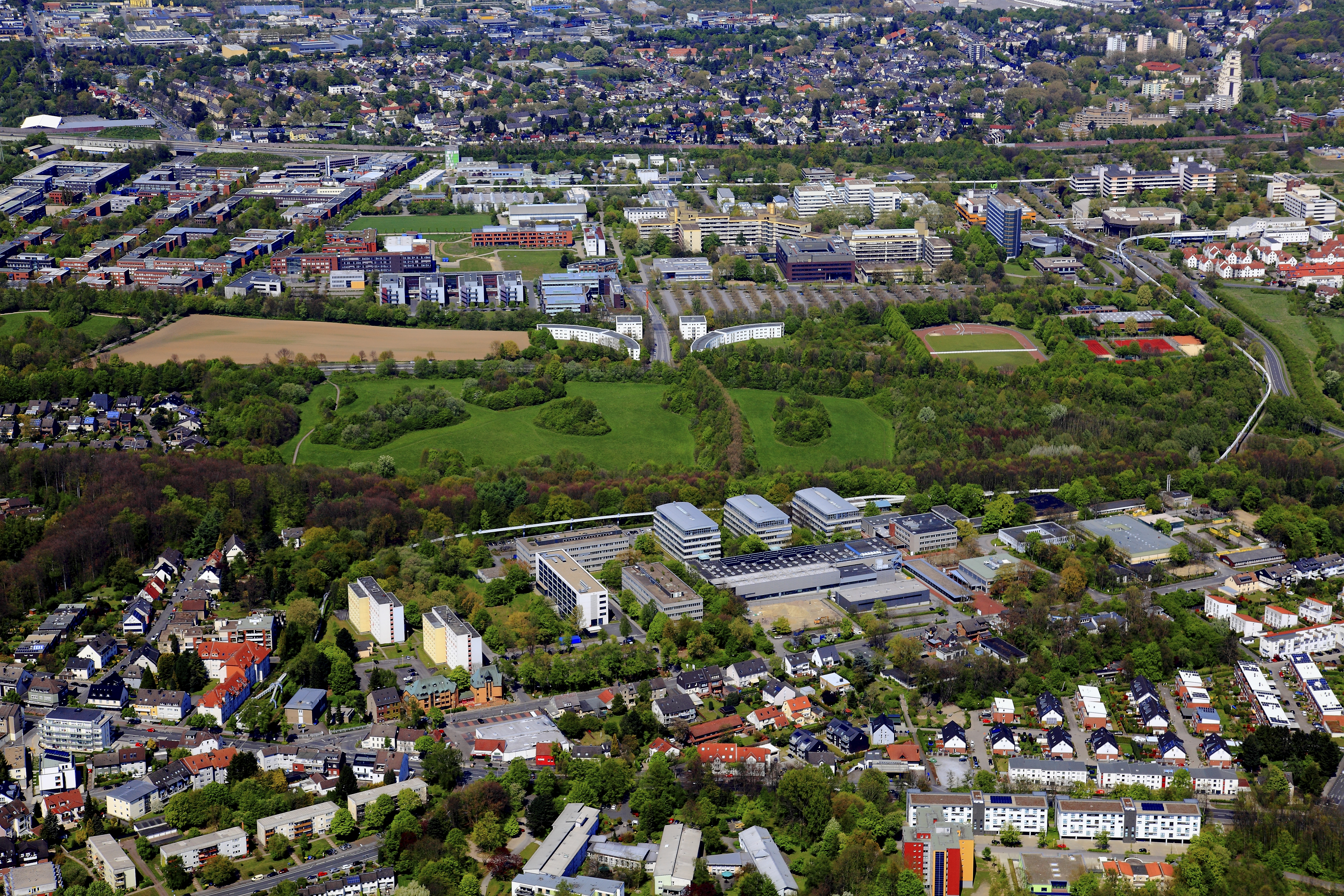 Aerial photo of TU Dortmund University